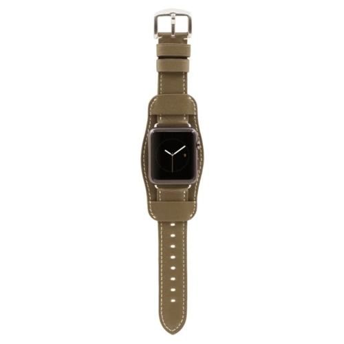 Kajsa Ремешок кожаный Retro Collection для Apple Watch 38/40 mm бежевый