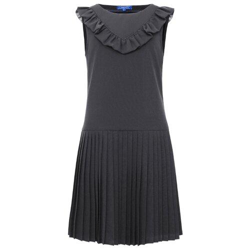 Купить Сарафан Смена размер 158/80, серый, Платья и сарафаны
