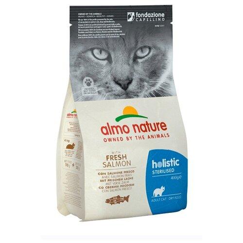 Сухой корм для стерилизованных кошек Almo Nature Holistic, с лососем 400 г