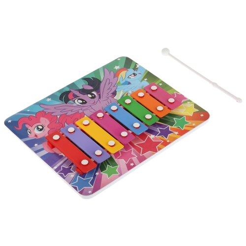 Купить Играем вместе металлофон My Little Pony B1634469-R красный/фиолетовый/желтый/розовый/голубой/зеленый/оранжевый, Детские музыкальные инструменты