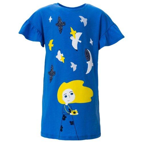 Платье crockid размер 98, голубой сапфир платье для девочки let s go цвет голубой 8150 размер 98