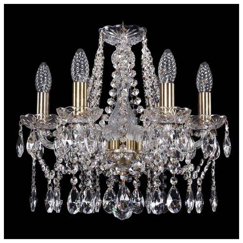 Люстра Bohemia Ivele Crystal 1413/6/141/Pa, E14, 240 Вт люстра bohemia ivele crystal 1413 1413 6 141 g leafs e14 240 вт