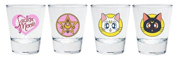 Набор стопок ABYstyle Sailor Moon Emblem 50 мл, 4 шт
