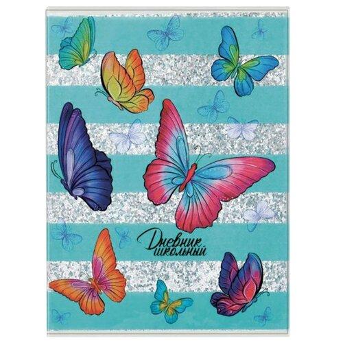 Купить Феникс Дневник школьный Бабочки 48913 голубой, Дневники