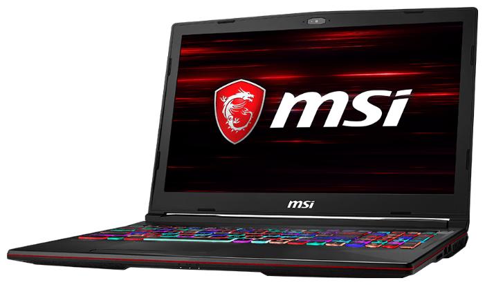 "Ноутбук MSI GL63 8SDK (Intel Core i5 8300H 2300 MHz/15.6""/1920x1080/8GB/1128GB HDD+SSD/DVD нет/NVIDIA GeForce GTX 1660 Ti/Wi-Fi/Bluetooth/DOS)"