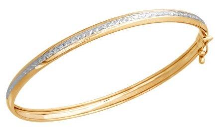 SOKOLOV Браслет жёсткий из золота с алмазной гранью 050366