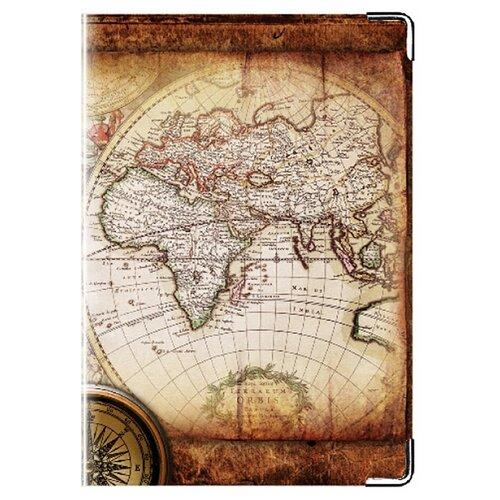Обложка для паспорта MADAPRINT Карта 100% натуральная овечья кожа
