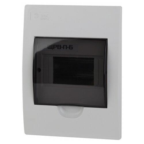 Щит распределительный ЭРА Simple ЩРВ-П-6 встраиваемый, пластик, модулей 6 белый