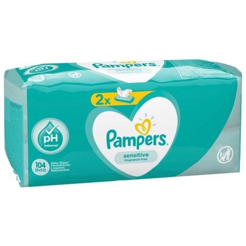 Фото - Влажные салфетки Pampers Sensitive липучка 104 шт. салфетки pampers детские влажные салфетки sensitive 104 шт