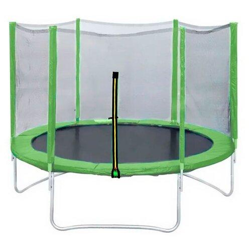 Каркасный батут DFC Trampoline Fitness 12FT-TR-LG/12FT-TR-B с сеткой 366х366 см светло-зеленый каркасный батут dfc trampoline fitness 16ft tr lg 16ft tr b 488х488х269 см светло зеленый