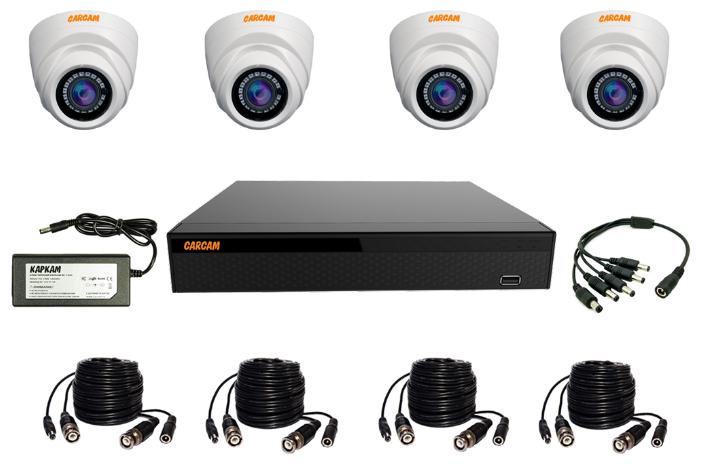 Готовый комплект видеонаблюдения CARCAM VIDEO KIT 2M-4 4 камеры