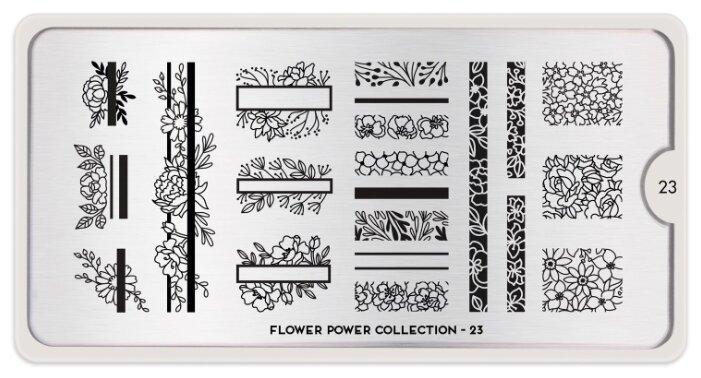 Трафарет MoYou London Flower Power №23 12.5 х 6.5 см