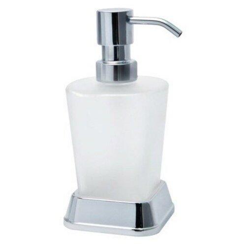 Дозатор для жидкого мыла WasserKRAFT Amper K-5499, серебристый/белый
