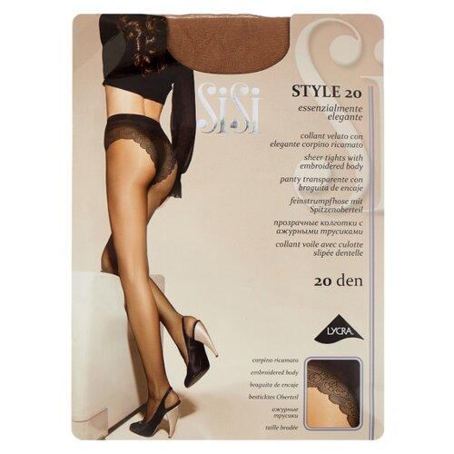 Фото - Колготки Sisi Style, 20 den, размер 5-MAXI XL, miele (бежевый) колготки sisi fascino 20 den размер 5 maxi xl miele бежевый