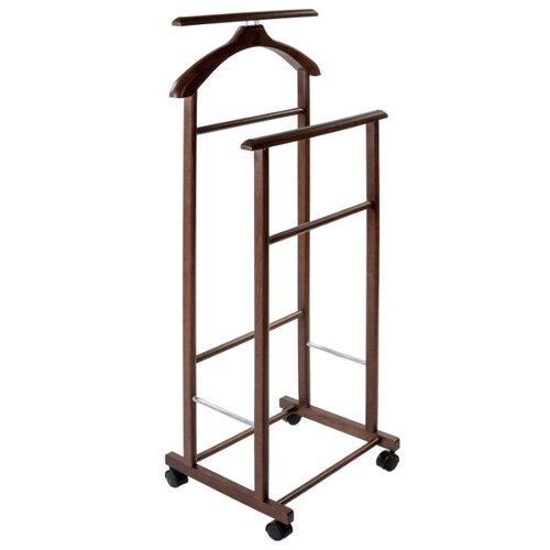 Напольная вешалка Мебелик В 22Н средне-коричневый напольная вешалка мебелик вешалка напольная в 33н