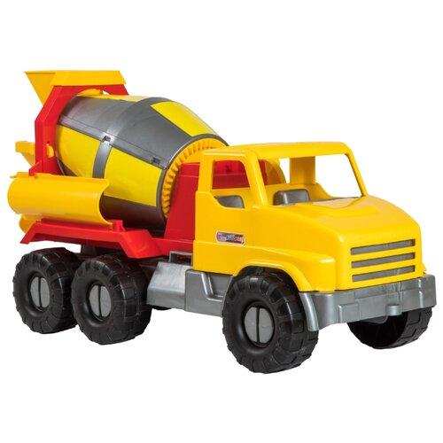 Фото - Бетономешалка Тигрес City Truck (39365) 52 см желтый/красный набор посуды тигрес ромашка 39121 красный желтый зеленый синий