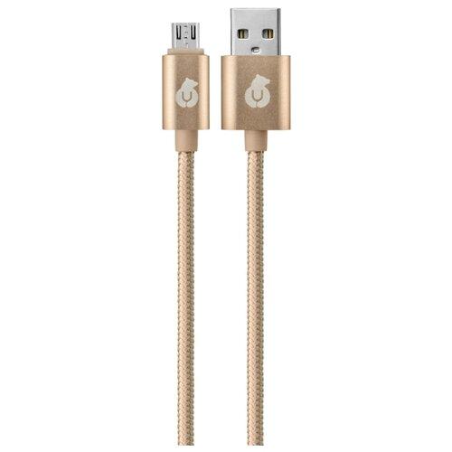 Кабель uBear Cord USB - microUSB (DC03) 1.2 м золотистый