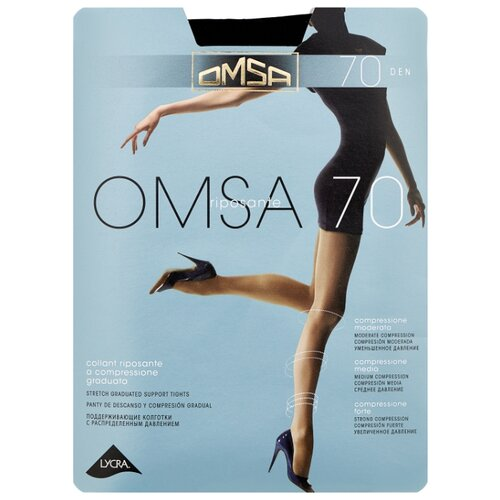 Колготки Omsa Omsa 70 den, размер 4-L, nero (черный) колготки omsa perfetta 70 den размер 4 l nero черный