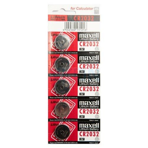 Фото - Батарейка CR2032 литиевая Maxell CR2032-5 3V 5 шт батарейка maxell sr 621sw 1 шт