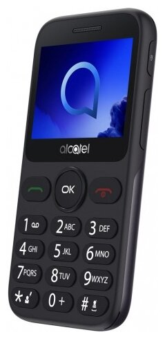 Сотовый телефон Alcatel 2019G Black-Metallic Silver