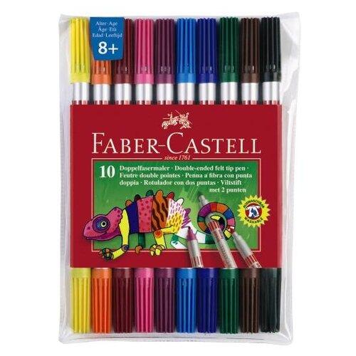 Купить Faber-Castell Набор фломастеров, 10 цветов (151110) разноцветные, Фломастеры и маркеры