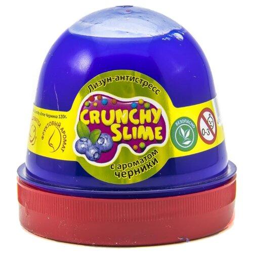 Лизун Mr.Boo! Crunchy slime с ароматом черники синий