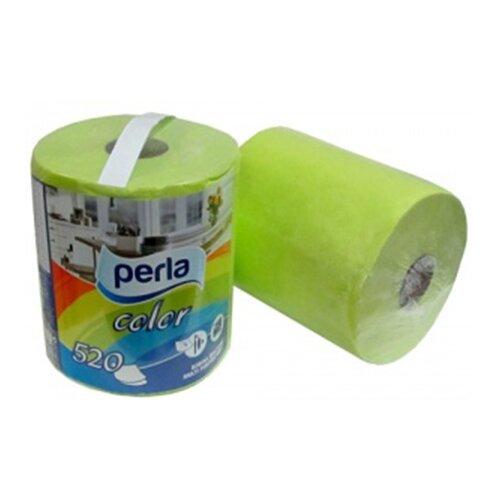 Полотенца бумажные Perla Color салатовые двухслойные 1 рул.