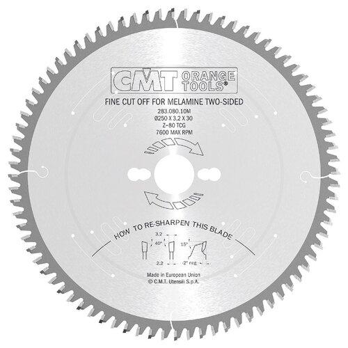 Пильный диск CMT 283.080.10M 250х30 мм диск пильный твердосплавный cmt 226 060 10m