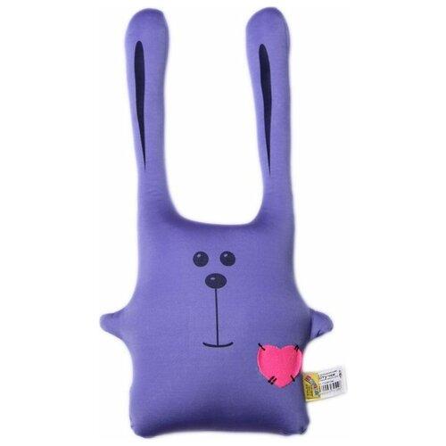 Купить Подушка-игрушка антистресс Штучки, к которым тянутся ручки Заяц Ушастик фиолетовый 43 см, Мягкие игрушки