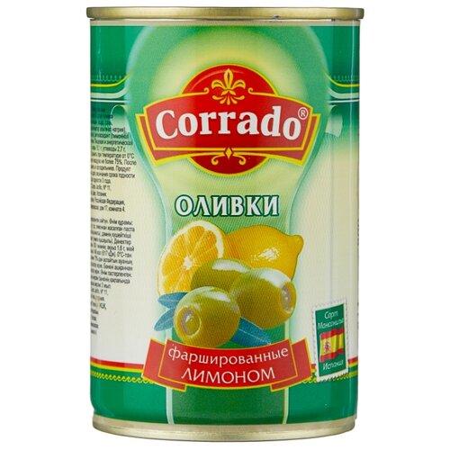 Corrado Оливки фаршированные лимоном в рассоле, жестяная банка 300 г