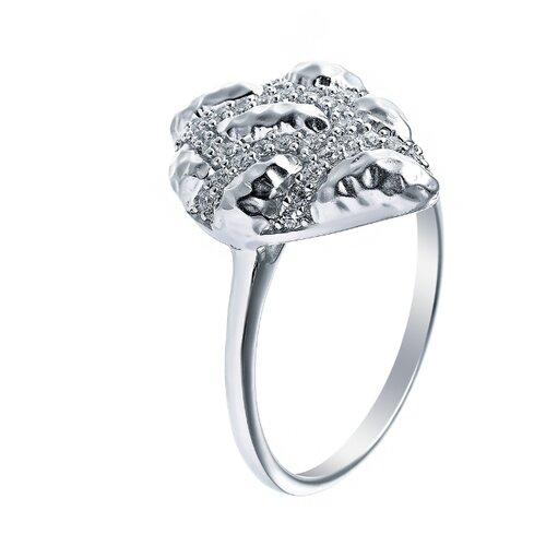 ELEMENT47 Кольцо из серебра 925 пробы с кубическим цирконием SR01738CZZSW-1_KO_WG, размер 16.75