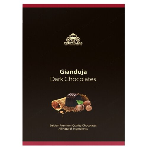 Набор конфет Sweet Fargo Джандуйя дробленый фундук & пьемонтский орех в темном шоколаде 120 г черный laima царицино ассорти конфет в темном шоколаде 360 г