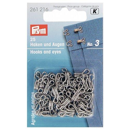 Купить Prym 261216 Крючки для одежды №3, серебристый (25 шт.), Фурнитура