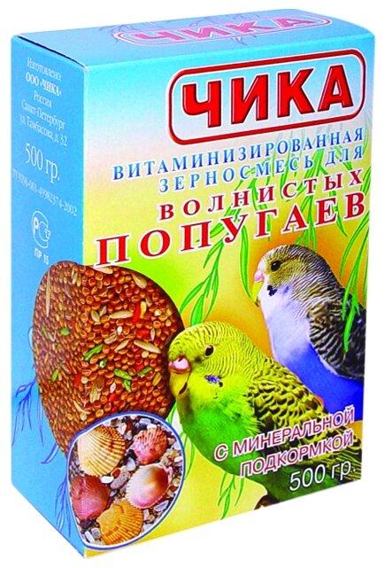 Чика корм с минеральной подкормкой для волнистых попугаев