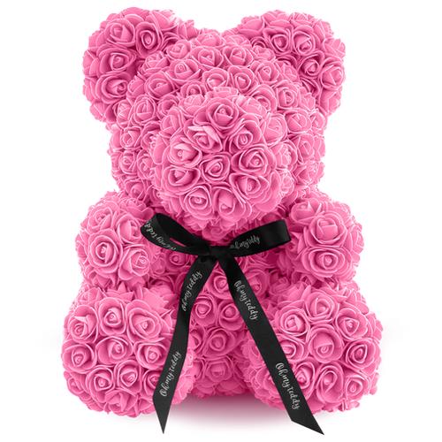 Kani Мишка из 3D роз, 40 см розовый