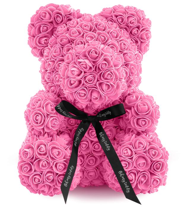 Kani Мишка из роз, 40 см розовый