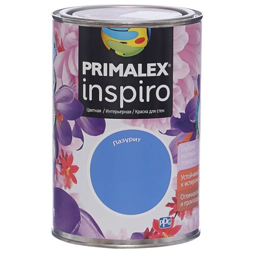 Краска PRIMALEX Inspiro моющаяся матовая Лазурит 1 л