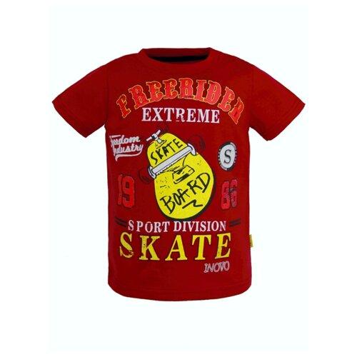 Купить Футболка ИНОВО размер 92, красный, Футболки и рубашки