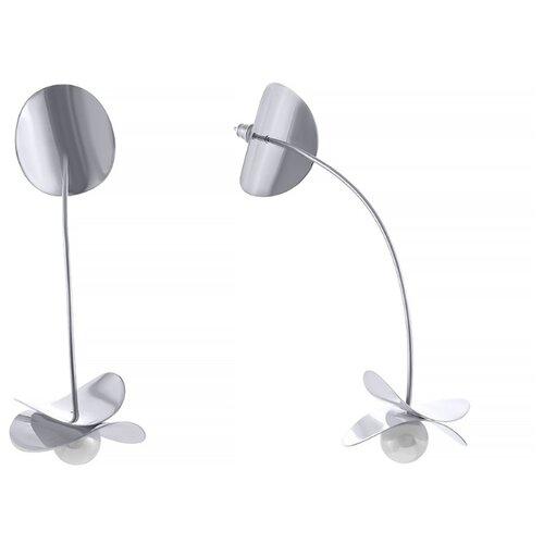 Фото - JV Серебряные серьги с жемчугом EPH040-SR-WM-WG jv серебряные серьги с жемчугом eph040 sr wm wg