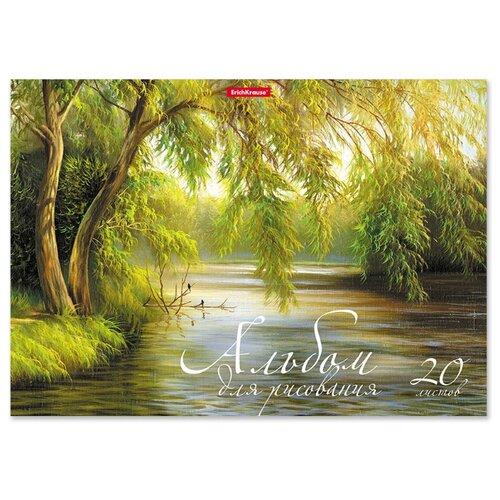 цена Альбом для рисования ErichKrause Лесное озеро 29.7 х 21 см (A4), 120 г/м², 20 л. онлайн в 2017 году