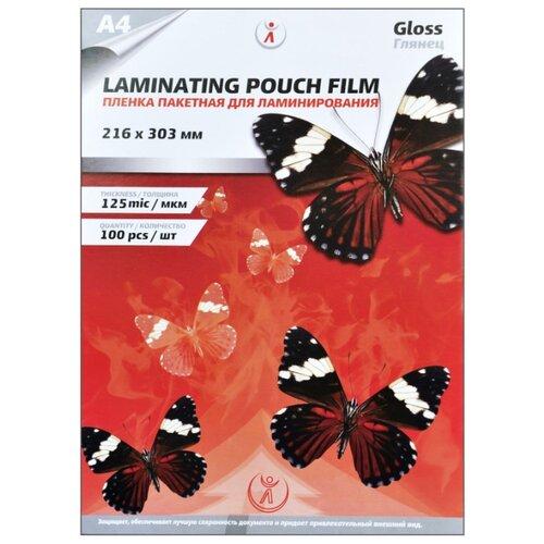 Фото - Пленка для ламинирования глянцевая LF, А4 (216мм х 303мм), 125мкм, 100шт пленка для ламинирования bulros a4 125мкм 100шт