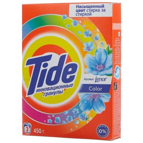 Стиральный порошок Tide Lenor Touch of Scent Color (автомат) 0.45 кг картонная пачка порошок стир tide lenor лаванда автомат 4 5кг