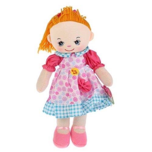 Купить Мягкая игрушка Мульти-Пульти Мягкая кукла рыжая в розовом платье 40 см, Мягкие игрушки