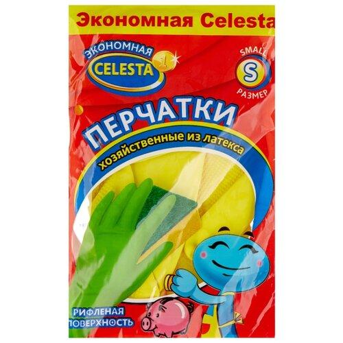 Перчатки Celesta хозяйственные эконом, 1 пара, размер S, цвет желтый