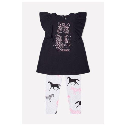 Купить Комплект одежды crockid размер 98, черный/светло-серый, Комплекты и форма