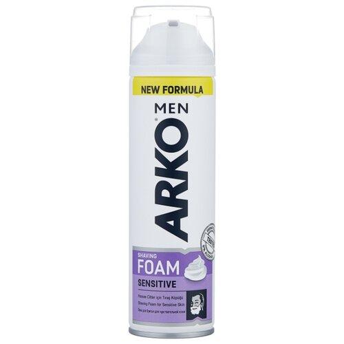 Пена для бритья Sensitive Arko, 200 мл крем для бритья fresh arko