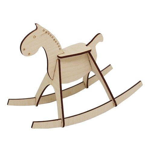 Купить Astra & Craft Деревянная заготовка для декорирования Лошадка-качалка L-716 бежевый, Декоративные элементы и материалы