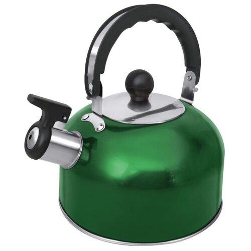 Home Element Чайник со свистком HE-WK1602 2 л, зеленый изумруд чайник home element he kt 174 сталь