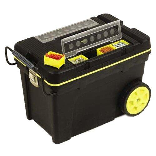 Ящик-тележка STANLEY 1-92-904 Pro Mobile Tool Chest 59x37x42 см черный/желтый ящик для инструментов stanley 1 92 749