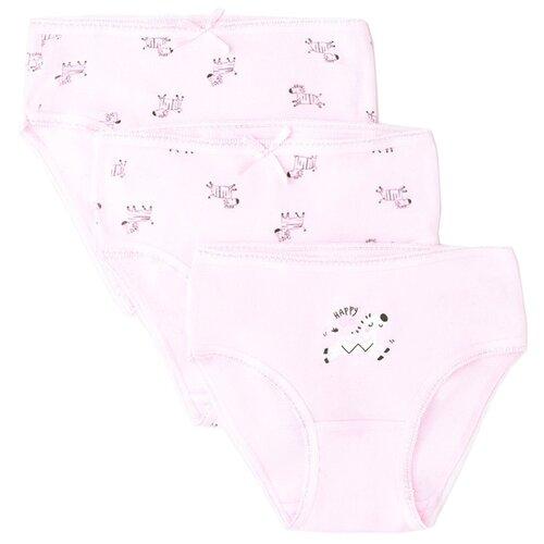 Купить Трусики crockid 3 шт., размер 98-104, розовый, Белье и купальники